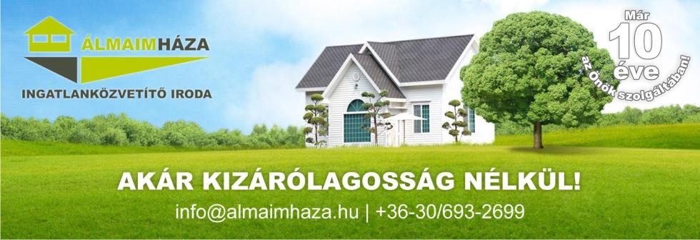 Álmaim Háza Ingatlaniroda logo