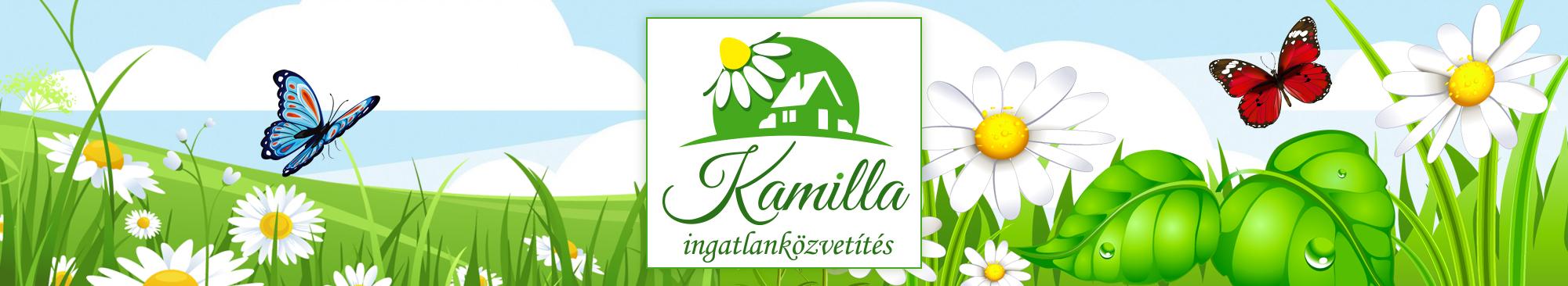 Kamilla Ingatlanközvetítés logo