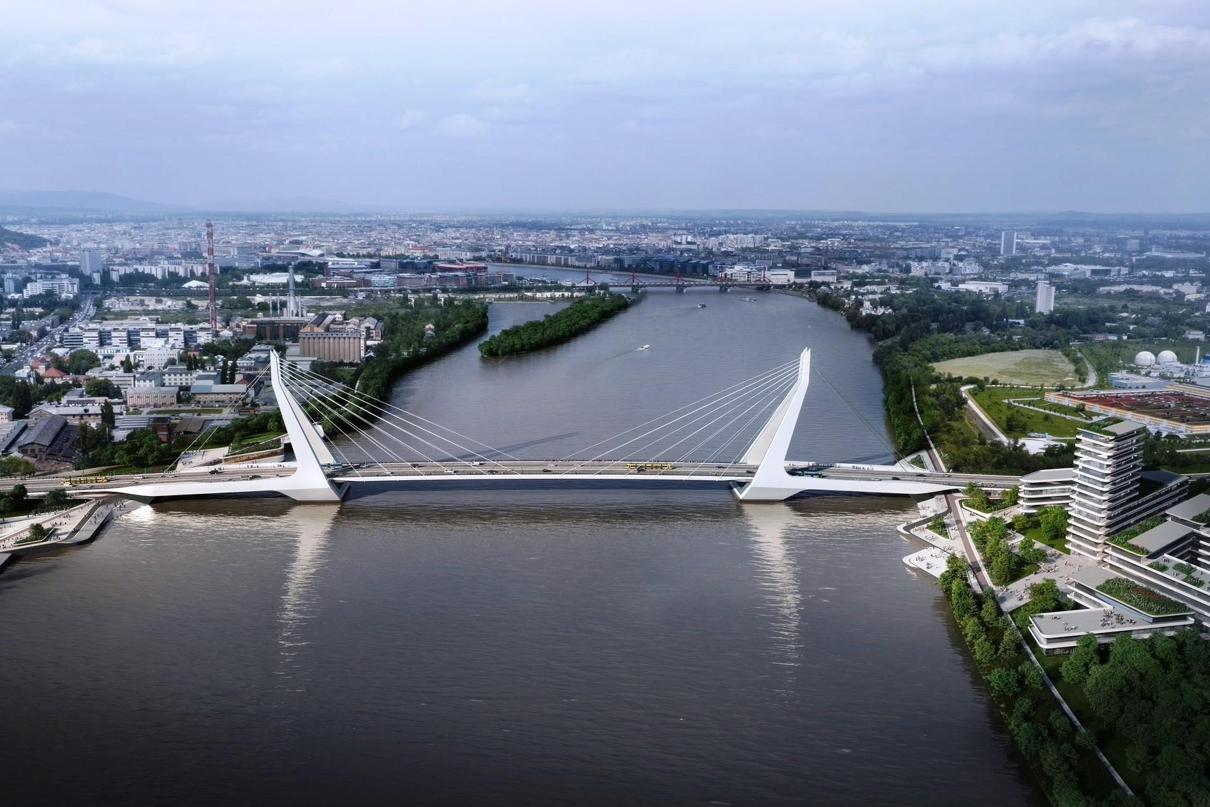 Így fog kinézni Budapest új hídja