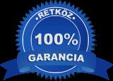 rétköz 100% garancia